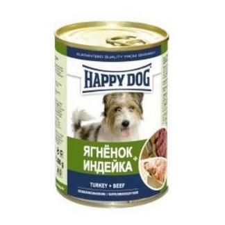 Happy Dog консервы для собак с мясом индейки и ягненка [банка 400г]