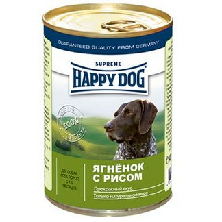 Happy Dog консервы для собак из ягненка с рисом (400г)